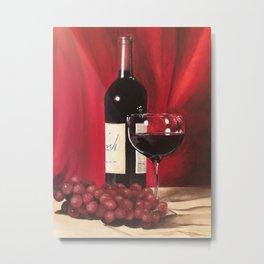 Red Wine, Still Life Metal Print