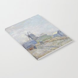 Montmartre - Windmills and Allotments by Vincent van Gogh Notebook
