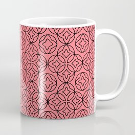 Arabesque Ancient Pattern Illustration in Rose Coffee Mug