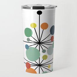 Atomic Age Nuclear Abstract Motif — Mid Century Modern Pattern Travel Mug