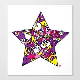 PINK STAR Canvas Print
