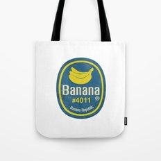 Banana Sticker On White Tote Bag