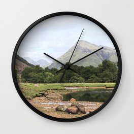 Here is realization - Glen Etive, Scotland Wall Clock