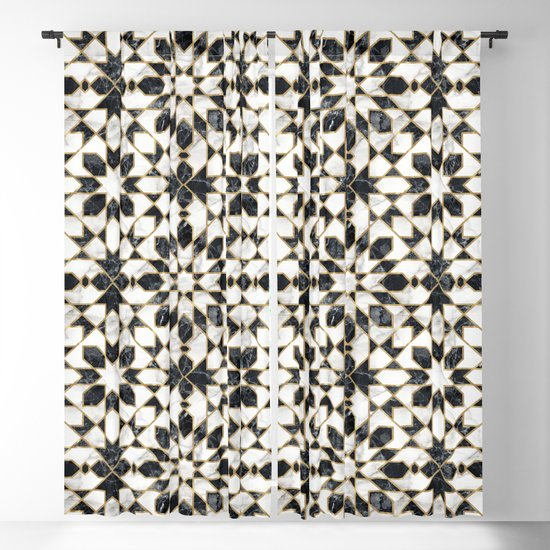 Black and white marble Moroccan mosaic by catyarte