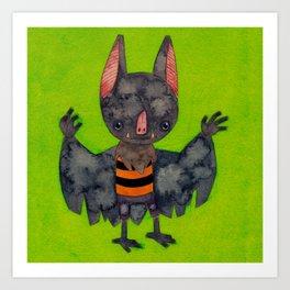 October the Bat Art Print