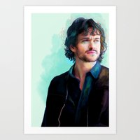will graham Art Prints featuring Will Graham by The Wayward Daughter