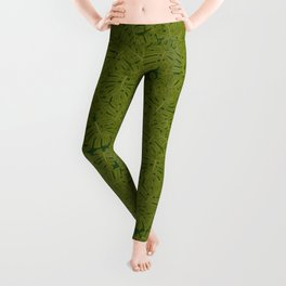monstera leaves Leggings