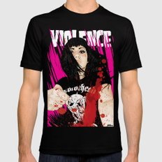 VIOLENCE LARGE Mens Fitted Tee Black