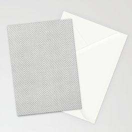 Stitch Weave Geometric Pattern in Grey Stationery Cards