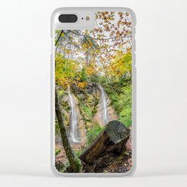 Autumn Waterfall Clear iPhone Case