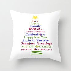 Holiday Tree Throw Pillow