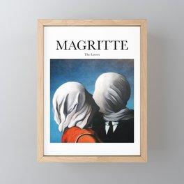 Magritte - The Lovers Framed Mini Art Print