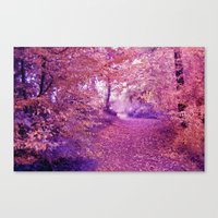 wander Canvas Prints featuring wander by Luiza Lazar