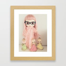 rose and the three angels Framed Art Print