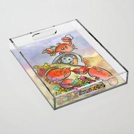 Buried Treasure Acrylic Tray