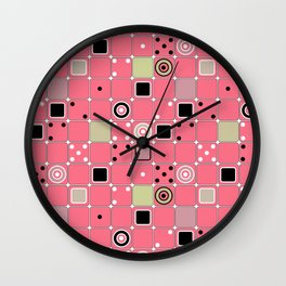 Geometrical abstract pattern Wall Clock