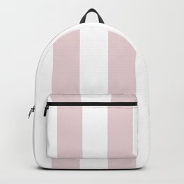 Alice Pink and White Wide Vertical Cabana Stripes Backpack