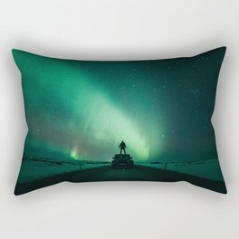 Colorful Northern Lights Rectangular Pillow