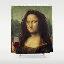 Drunk Lisa Shower Curtain