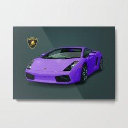 Purple Lambo Metal Print