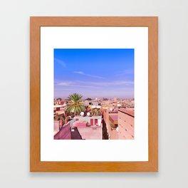 Marrakech Rooftop Framed Art Print
