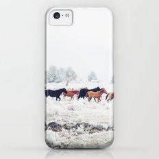 Winter Horse Herd Slim Case iPhone 5c