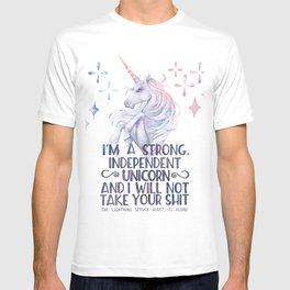 I am a strong independent unicorn - The lightning struck heart T-shirt
