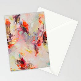Psyche ○ pink rainbow modern abstract art Stationery Cards