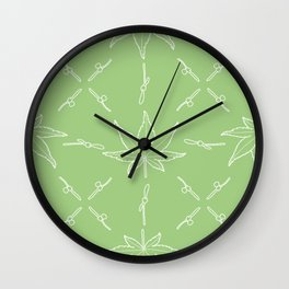 Smooth Japanese Maple Pattern Wall Clock
