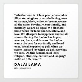 94  | Dalai Lama Quote | 191231 Art Print