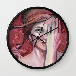 strawberry flirt Wall Clock
