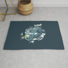 Mechanical Whale Rug