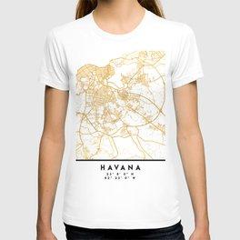 HAVANA CUBA CITY STREET MAP ART T-shirt