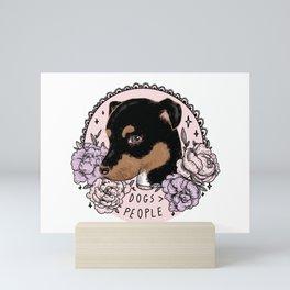 DOGS > PEOPLE Mini Art Print