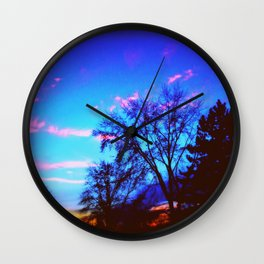 Colorful Sky (vintage) Wall Clock