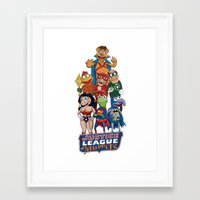 justice league Framed Art Prints featuring Justice League of Muppets by JoshEssel