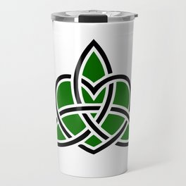 Celtic Valknut Trinity Knot With Interwoven Heart Travel Mug