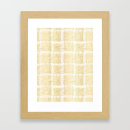 Luxe Gold Criss Cross Weave Hand Drawn Vector Pattern Background Framed Art Print