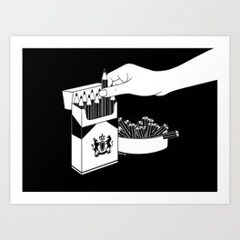 Art Addiction Art Print
