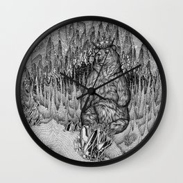 Cave of the Bear King Wall Clock