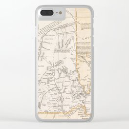 Vintage New Hampshire Exploration Map (1761) Clear iPhone Case