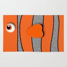 Orange ornamental fish cartoons Rug