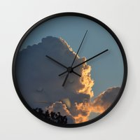 smoking Wall Clocks featuring Smoking by Lili Batista
