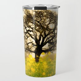 Big Lonely Tree In Buttercup Meadow Ultra HD Travel Mug