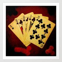 Escalera Real de Trebol (Dirty Poker) Art Print