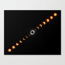 Composite of Total Solar Eclipse 2017 (11 by 14 inches) Canvas Print