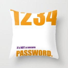 Password Big Bang Throw Pillow