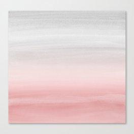 Touching Blush Gray Watercolor Abstract #1 #painting #decor #art #society6 Canvas Print