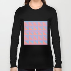Pink Blue Peach Houndstooth /// www.pencilmeinstationery.com Long Sleeve T-shirt