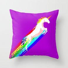 Pixel Unicorn Throw Pillow